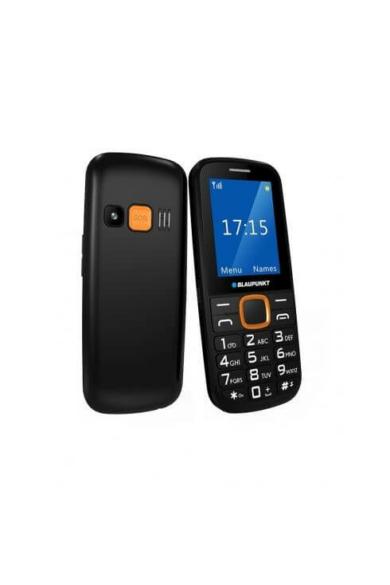 Blaupunkt BS04 időseknek,mobiltelefon készülék,fekete-narancs,Telenor függő+feltöltős SIM kártya