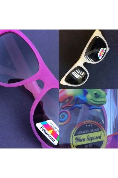 Junior Banz Chameleon színváltós gyermek napszemüveg sárga/pink